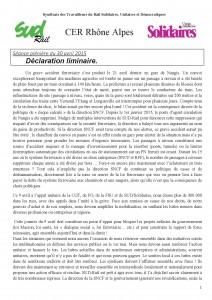 30-04-2015 CER Rhone-Alpes Décla liminaire