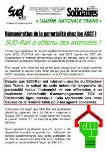Tract liaison Trains janvier 2014 parentalité