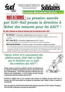 Tract liaison février 2014 Notations recto