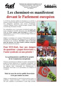 2014 - 3 - 3 - Rassemblement euro des cheminots