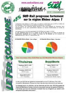 Fer Solidaire résultats régionaux novembre 2015